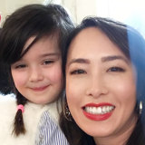 Melissa Leong with her god-daughter and cooking partner Dion.