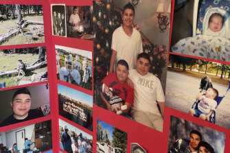 A memorial photo board dedicated to Elias Otero, of Albuquerque, New Mexico. The homicide rate in Albuquerque has, like in many US cities, risen rapidly in recent years.