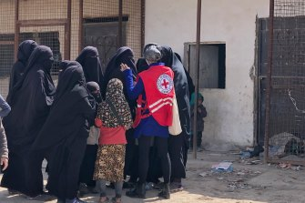 A team from the International Committee for the Red Cross visited the al-Hawl camp last month.