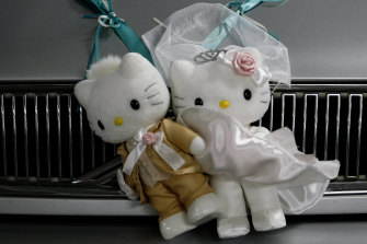 Hello Kitty! There's the long ride of marriage ahead.