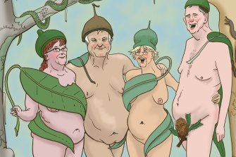 Judging a nudist club's fancy dress event presents a special challenge.