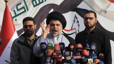 Shiite cleric Muqtada al-Sadr, himself a militia leader, has warned of Iranian influence over rival militias in Iraq.