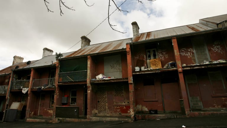 The Block in Redfern in 2007.