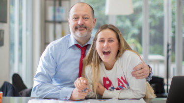 Russel Howcroft and his daughter Claudia.