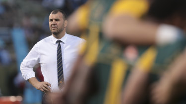 Fake news: Michael Cheika doesn't have a clause in his contract that would allow him to coach the Wallabies after the World Cup.