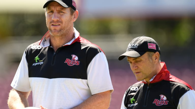 'Outstanding human': Brad Thorn (left) has signaled Queensland's intent to make a play for Folau.