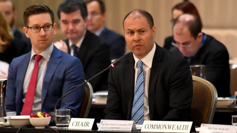 Minister for Energy Josh Frydenberg during Friday's COAG meeting.