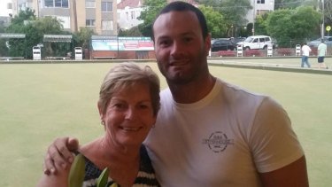 Boyd Cordner with Donna Mason, who he stayed with when he arrived in Sydney as a 16 year old.