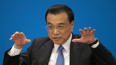 Li Keqiang said China doesn't deliberately target a trade surplus, an issue that's been a source a tension with the US.