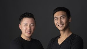 Werner Liu, left, and Fung Lam, founders of e-tailer New Aim, have parted ways in a $101 million deal.