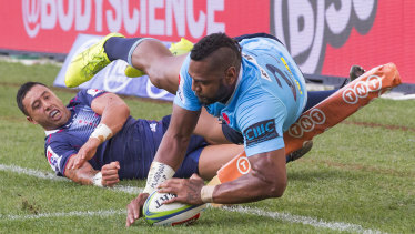 Big loss: Taqele Naiyaravoro is playing for Northampton in the UK Premiership after scoring 15 tries for the Waratahs last season.