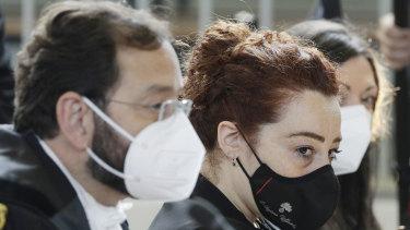 Rosa Maria Esilio, widow of Italian Carabinieri officer Mario Cerciello Rega in court.