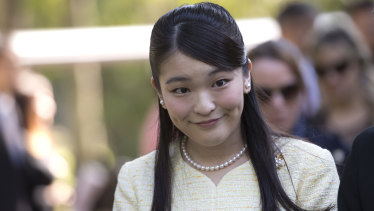 Princess Mako, pictured during an official visit to Brazil, is the eldest daughter of Prince Akishino and Princess Kiko.