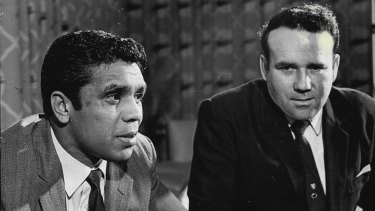 Lionel Rose with his his manager-trainer Jack Rennie on December 10, 1969