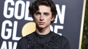 A sparkly Timothee Chalamet.