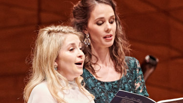 Soprano Alexandra Oomens, left, performs for Pinchgut Opera.