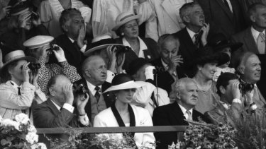 Princess Diana at the Melbourne Cup.