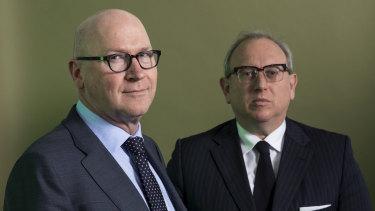 Scott Morrison's chief-of-staff, John Kunkel, and private secretary, Yaron Finkelstein.