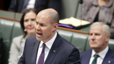 Treasurer Josh Frydenberg delivers the 2019 budget speech.