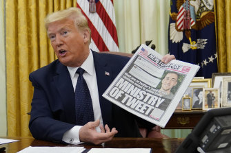 US President Donald Trump is notorious for spreading misinformation on social media and has complained about being fact-checked.