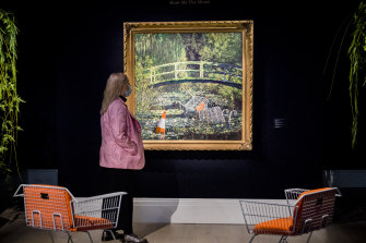 Banksy's 'Show me the Monet' was previously estimated at £3-5 million.