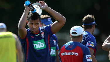 Saifiti suffered a broken ankle in the alleged incident outside a Newcastle pub.
