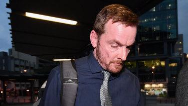 Benjamin Frederick Moran leaving the Brisbane Magistrates Court on Tuesday.