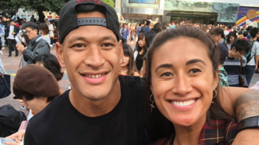 Adelaide Thunderbirds athlete Maria Folau is under fire after reposting husband Israel's plea for legal fee donations.