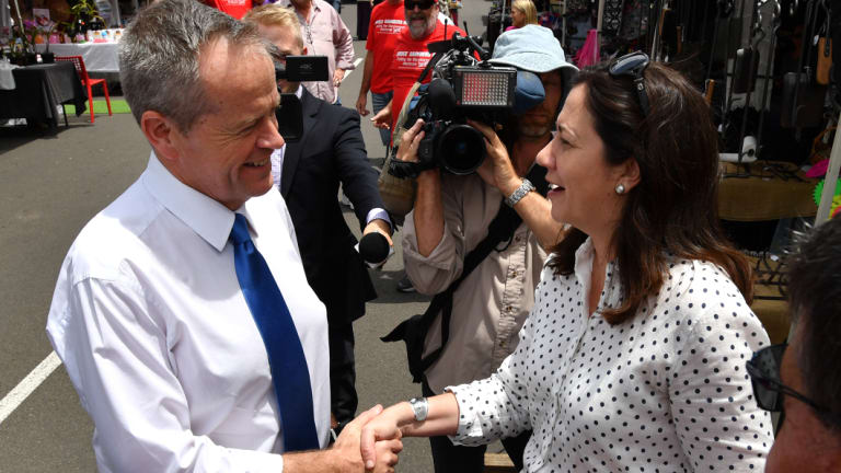 The party's faction-riven positions at the barricades will be lowered just in time for Mr Shorten's arrival.