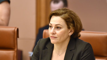 Queensland Treasurer Jackie Trad meets with federal Treasurer Josh Frydenberg and other state and territory treasurers at a meeting on population growth and management at Parliament House in Canberra.
