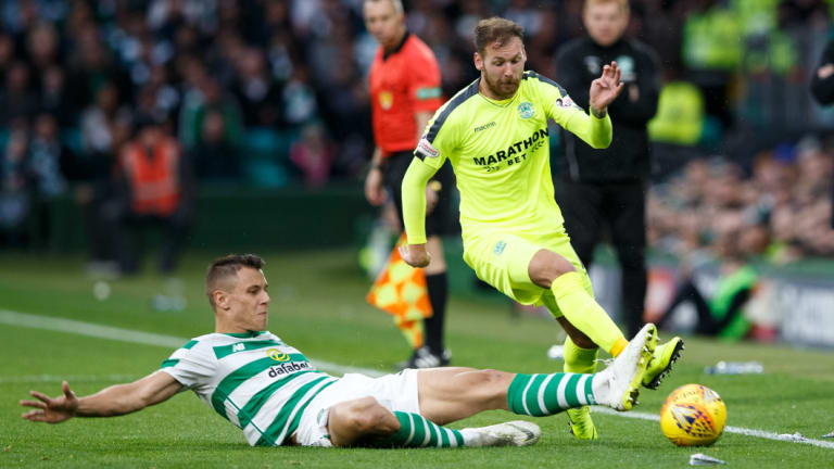 Flying Scotsman: Soon-to-be Socceroo Martin Boyle in action for Hibernian FC.