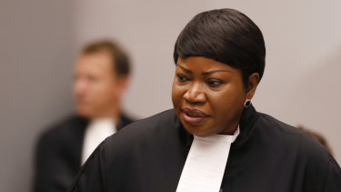 Prosecutor Fatou Bensouda at the International Criminal Court in The Hague last month.