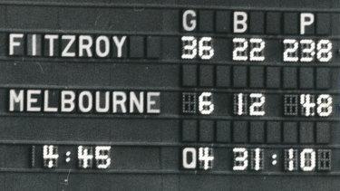 The scoreboard tells the story.