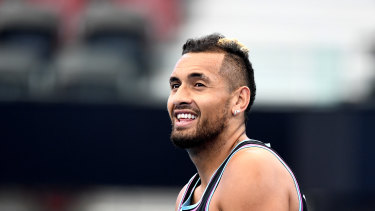 Nick Kyrgios has called for an exhibition match to raise funds for communities hit hard by the bushfires.