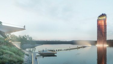 Artist's impressions of proposed Eden Project development at the former Alcoa site in Anglesea.