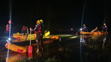 They paddled one kilometre before trekking 500 metres to the home.