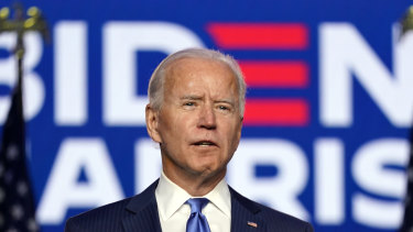 Joe Biden claimed a mandate, saying he would win and Americans had chosen change.