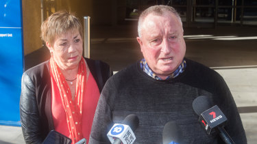 Rod Patterson and Maree Patterson survived the Bourke Street terror attack. Mr Patterson was stabbed in the head.