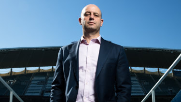 Todd Greenberg, CEO of the NRL, at Allianz Stadium.