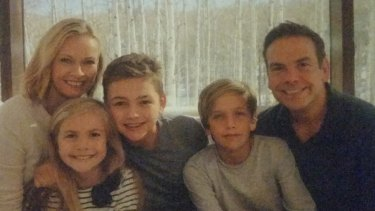 Happy families: Former Bronte locals Sarah and Lachlan Murdoch with their children Aerin, Kalan and Aidan.
