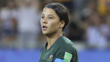 Australia's Sam Kerr had been linked with a move to Chelsea.