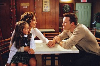 Jennifer Lopez, Raquel Castro and Ben Affleck in Kevin Smith's Jersey Girl.