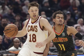 Back to the court: Matthew Dellavedova is set to return for the Cavs.