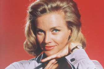 Honor Blackman in a publicity photo for the film Goldfinger, circa 1964.