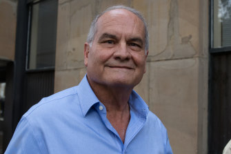 Castagna leaves a Sydney court in April 2018 where a jury found him guilty of money laundering and tax evasion. He served time in jail before he was acquitted and his conviction quashed.