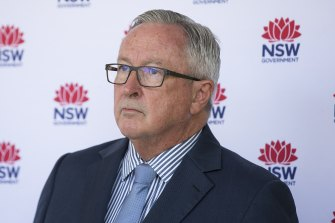 NSW Health Minister Brad Hazzard reports on the number of cases in NSW on Thursday