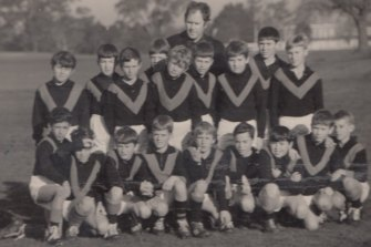 The Kostka Hall under 11s football team in 1970.