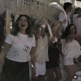 Doreen Jacencko partying in Mykonos.