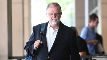 John Finnin leaves the Melbourne Magistrates Court on Friday.