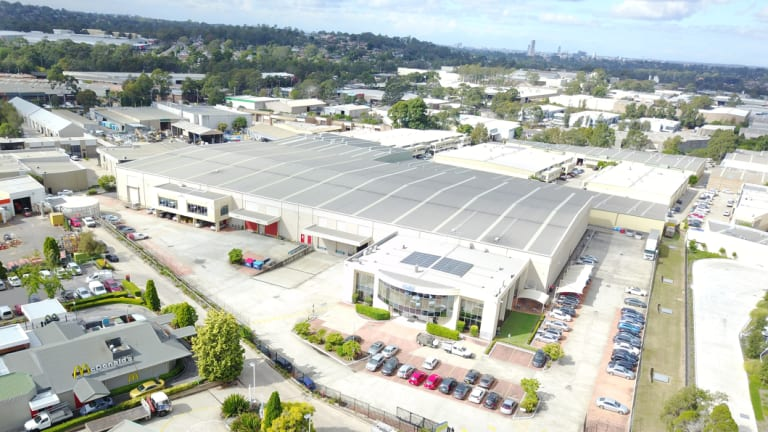 A PropertyLink-owned warehouse at 2 Costello Place, Seven Hills. The three-way takeover tussle is partly driven by the rise of the e-commerce sector and the demand is has created.